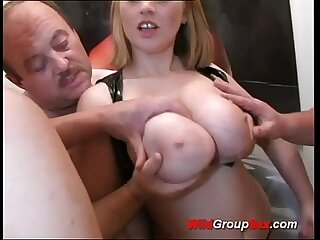 Busty German Teen takes dicks in holes